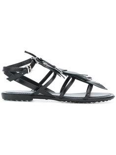 сандалии с ремешками и бахромой Tods Tod`S