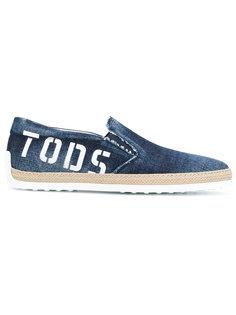 кеды с плетеной отделкой Tods Tod`S