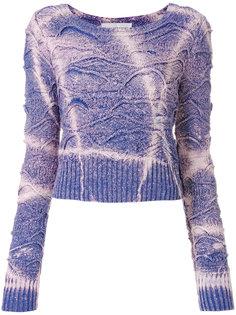 укороченный свитер с принтом тай-дай Faith Connexion