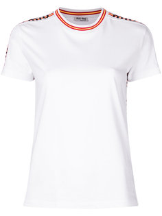 футболка с логотипом Miu Miu