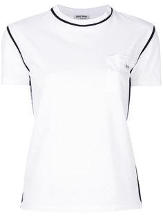 классическая футболка с логотипом Miu Miu