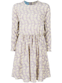 короткое платье с принтом Prada