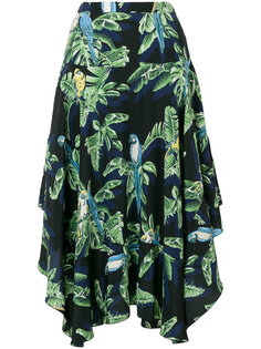 асимметричная юбка с декоративными оборками Stella McCartney