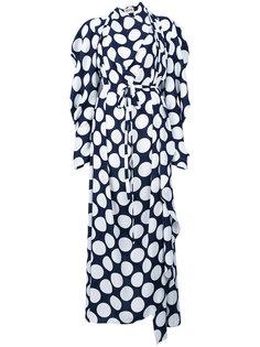 платье с принтом и драпировкой  A.W.A.K.E. Awake