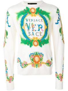 свитер с принтом логотипа Versace
