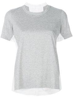 футболка с вырезом-ковш  Sacai