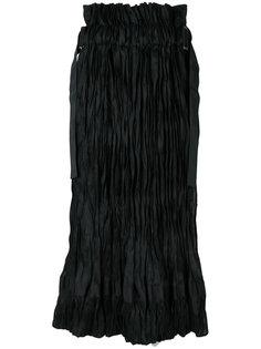 текстурированная юбка миди Sacai
