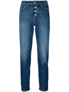 джинсы с высокой посадкой на пуговицах Closed