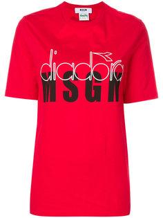 футболка с принтом MSGM X Diadora MSGM