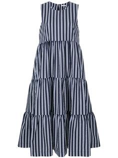 платье миди без рукавов в полоску  P.A.R.O.S.H.