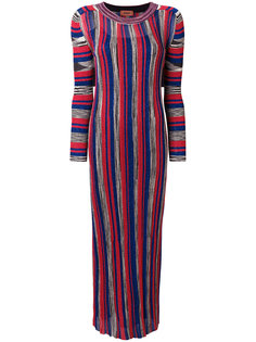 приталенное платье миди в полоску  Missoni
