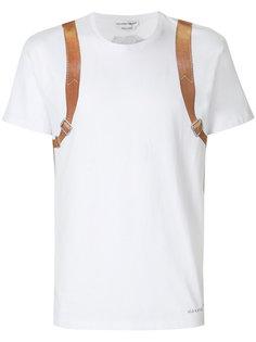 футболка с принтом рюкзака  Alexander McQueen