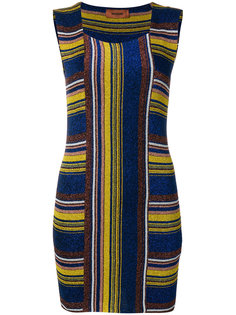 приталенное платье мини в полоску  Missoni