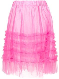 юбка из тюля с оборочной отделкой P.A.R.O.S.H.