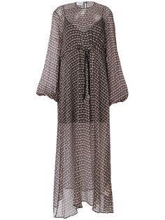 платье с принтом сердца  Dondup