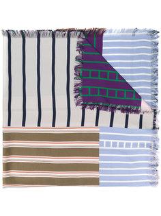 шарф с контрастными панелями  Pierre-Louis Mascia