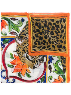 платок с леопардовым принтом Dolce & Gabbana