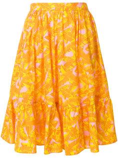 юбка миди с принтом  MSGM