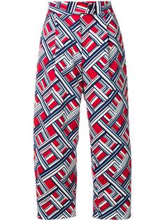 брюки с геометрическим принтом Carven