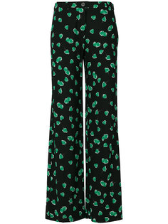 брюки с принтом клубники Miu Miu