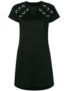 платье-футболка со шнуровкой  Sacai