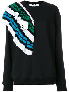 свитер с рюшами MSGM