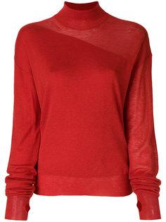 свитер с отворотной горловиной  Helmut Lang