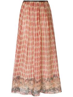 расклешенная юбка с комбинированным принтом  Forte Forte