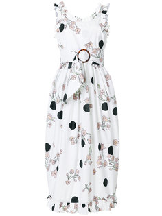 платье с рюшами и цветочным принтом  Isa Arfen