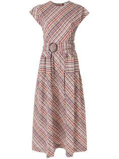 платье в клетку с поясом  Isa Arfen