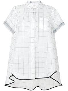 рубашка с сетчатым принтом Sacai