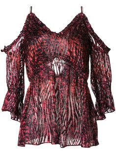 блузка с открытыми плечами и принтом  Iro