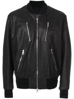 кожаная куртка-бомбер Neil Barrett