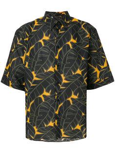рубашка с принтом и короткими рукавами MSGM