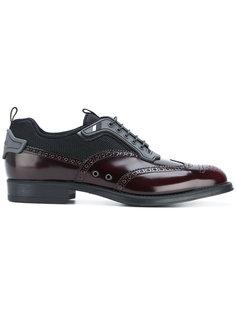 панельные туфли на шнуровке Prada