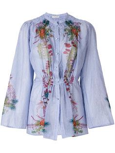присборенная рубашка с цветочным принтом  Etro