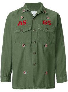 рубашка в стиле милитари с вышивкой As65