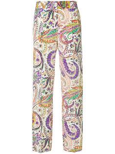 брюки с высокой талией с принтом Etro