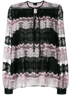 блузка с кружевной вставкой  Giambattista Valli