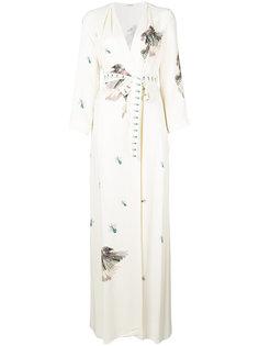 длинное платье в стиле халата Vilshenko