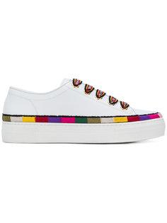 кроссовки на шнуровке с полосатым узором  Etro