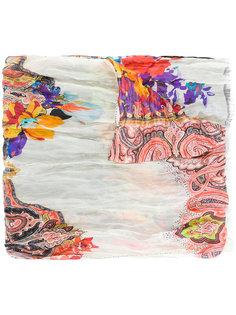 """шарф с цветочным принтом и узором """"пейсли"""" Etro"""