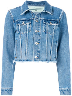 джинсовая куртка с цветочным принтом Off-White