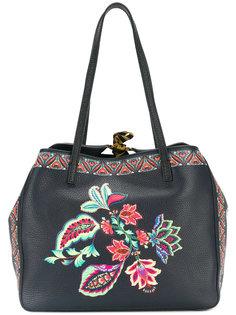 сумка-тоут с цветочным принтом Etro