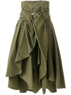 асимметричная юбка с оборкой  Faith Connexion