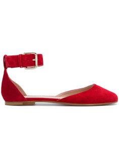 балетки с ремешком на щиколотке Red Valentino