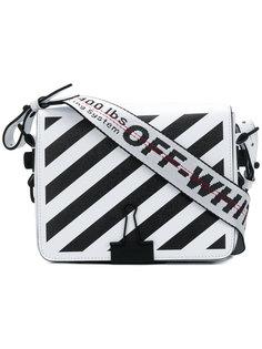 текстурированная сумка на плечо в полоску Off-White