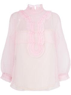 полупрозрачная блузка с оборкой  Prada