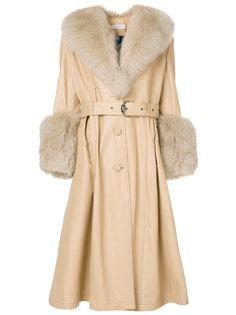 пальто с отделкой Saks Potts