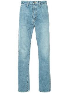 прямые джинсы с лампасами Doublet